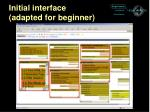 initial interface adapted for beginner