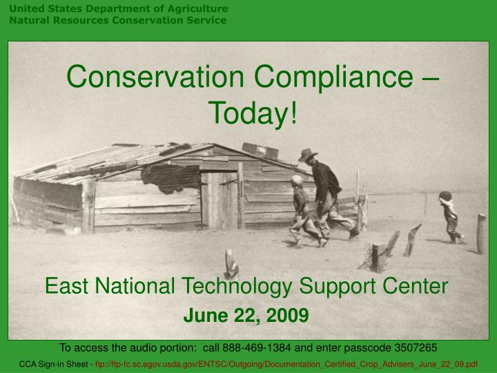 conservation compliance today n.