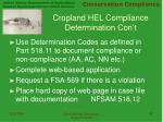 cropland hel compliance determination con t