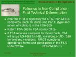 follow up to non compliance final technical determination