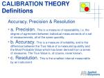 calibration theory definitions