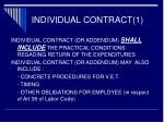 individual contract 1