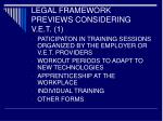 legal framework previews considering v e t 1