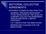sectorial collective agreements