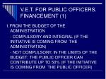 v e t for public officers financement 1