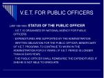 v e t for public officers