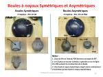 boules noyaux sym triques et asym triques