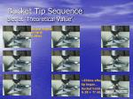 bucket tip sequence set at theoretical value