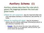 auxiliary schema 1