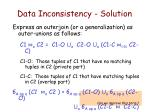 data inconsistency solution