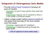 integration of heterogeneous data models