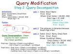 query modification step 2 query decomposition