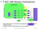aes 128e modules keyexpansion