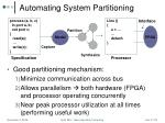 automating system partitioning