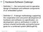 hardware software codesign