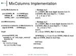 mixcolumns implementation