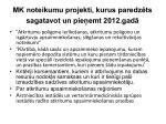mk noteikumu projekti kurus paredz ts sagatavot un pie emt 2012 gad