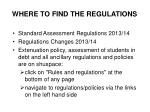 where to find the regulations
