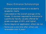 basic entrance scholarships