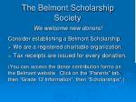 the belmont scholarship society