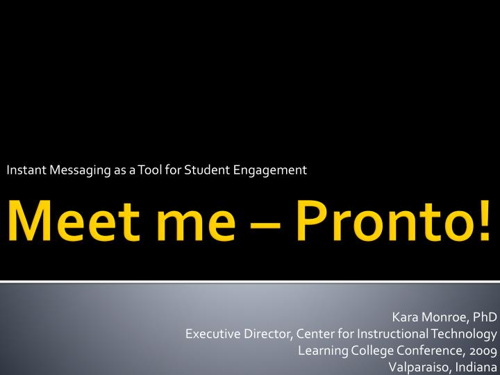instant messaging as a tool for student engagement n.