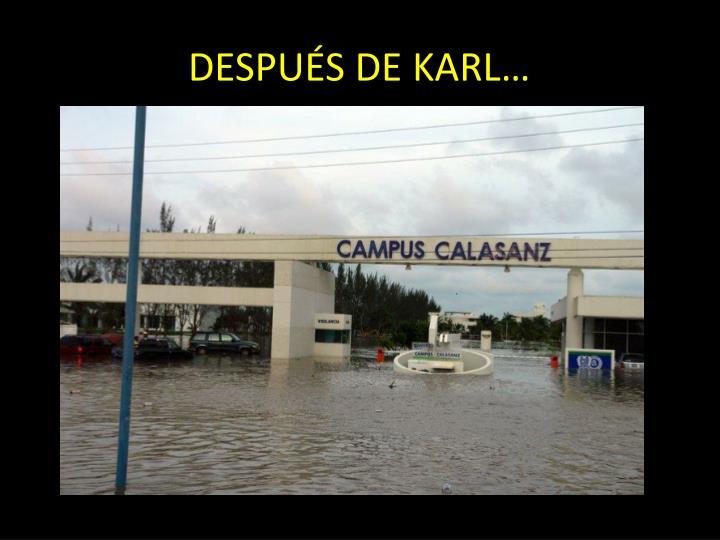 DESPUÉS DE KARL…