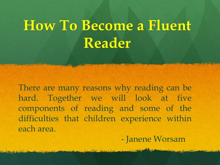 how to become a fluent reader n.