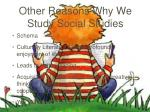 other reasons why we study social studies