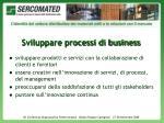 sviluppare processi di business