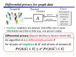 differential privacy for graph data