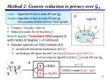 method 2 generic reduction to privacy over