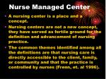 nurse managed center