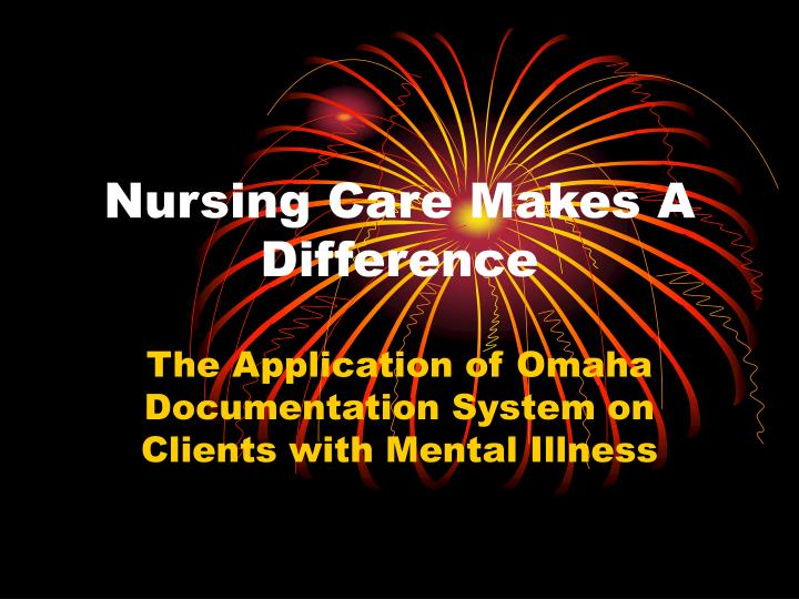 nursing care makes a difference n.
