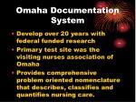 omaha documentation system