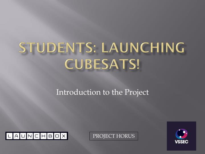 students launching cubesats n.