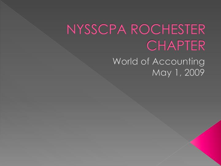 nysscpa rochester chapter n.