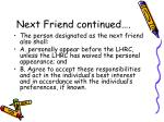 next friend continued2