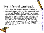 next friend continued3