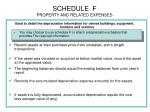 schedule f property and related expenses