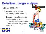 d finitions danger et risque