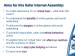aims for this safer internet assembly