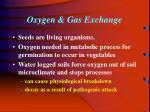 oxygen gas exchange