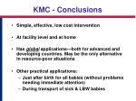 kmc conclusions
