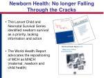 newborn health no longer falling through the cracks