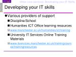 developing your it skills