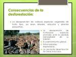 consecuencias de la desforestaci n