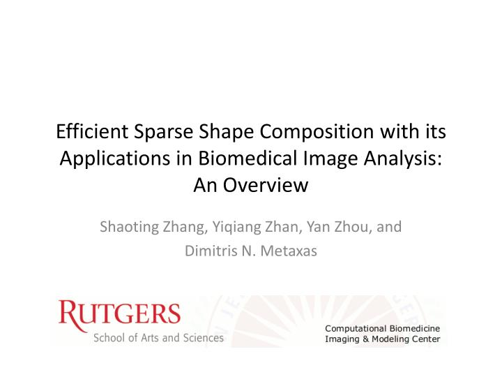 efficient sparse shape composition with its applications in biomedical image analysis an overview
