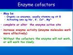 enzyme cofactors