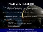 p1640 with palm3000