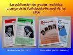 la publicaci n de gracias recibidas a cargo de la postulaci n general de las fma